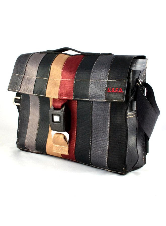 Recycled Seat Belt Laptop Courier Bag