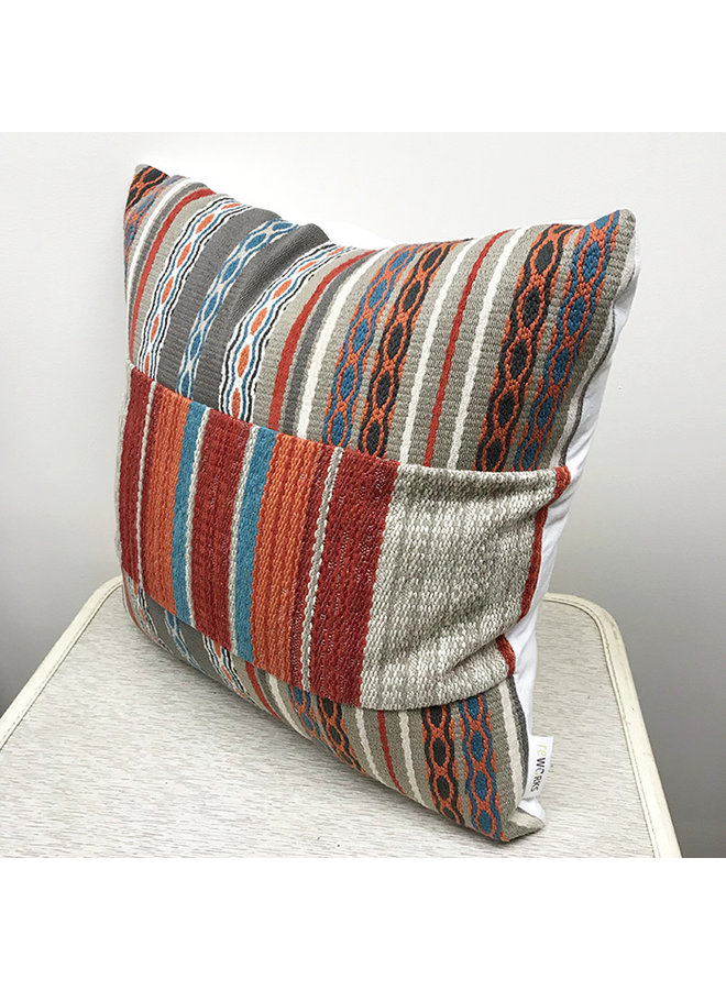 Large Striped Pillow