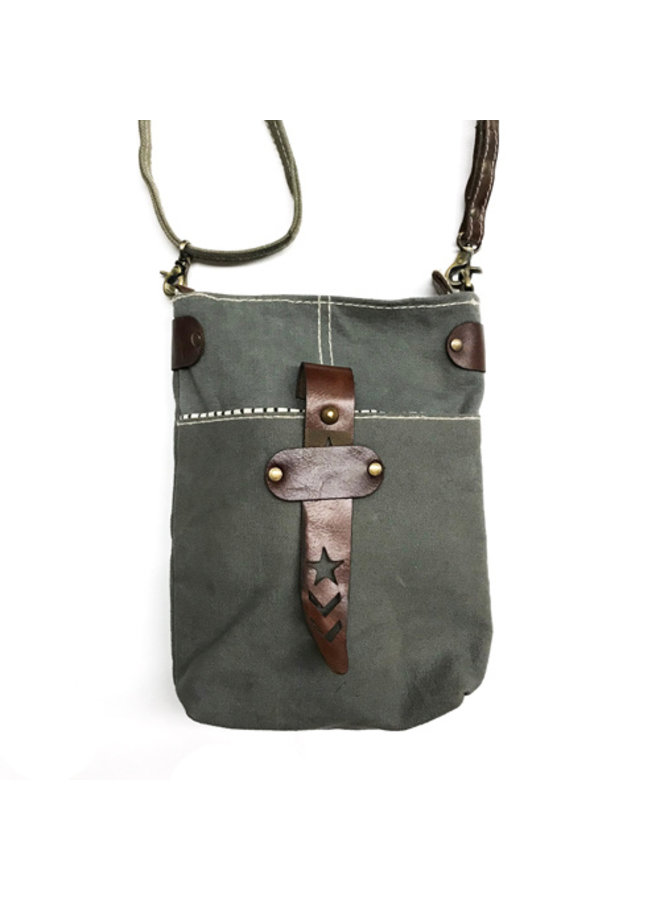 Recycled Military Tent Satchel
