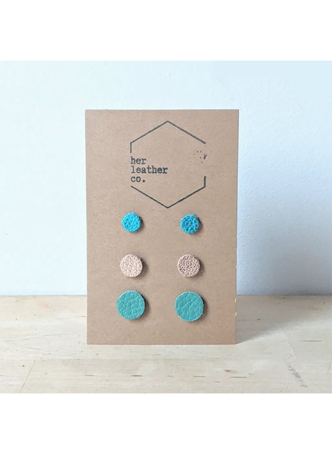 Dotty Triplet Set of Stud Earrings