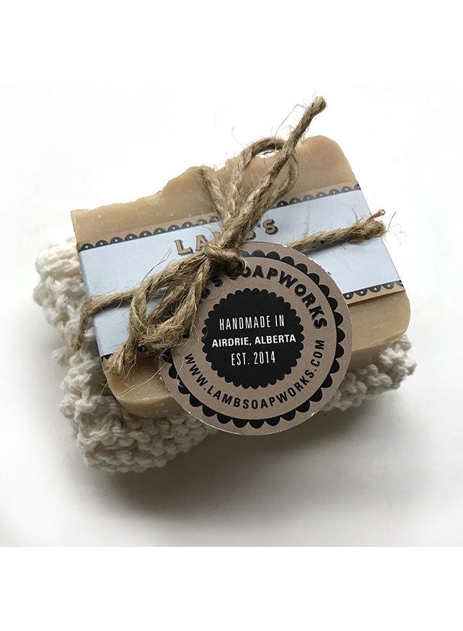 Soap & Hand Knit Washcloth Set