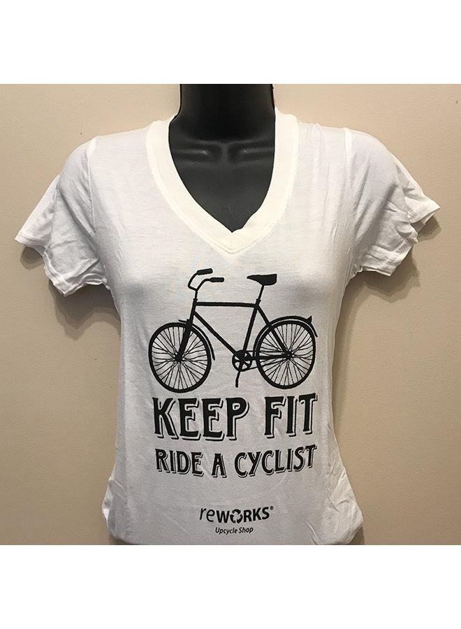 Women's Keep Fit Ride a Cyclist T-shirt
