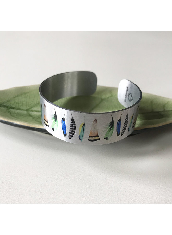 Small Recycled Aluminum Bracelet