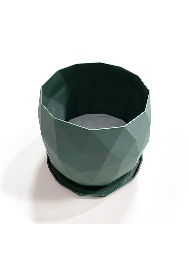 "4"" Recycled Plastic Planter in Holiday Colours"
