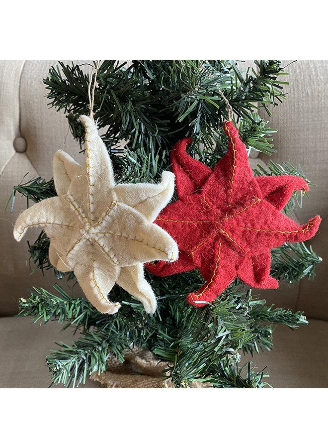Felted Star Ornament Set