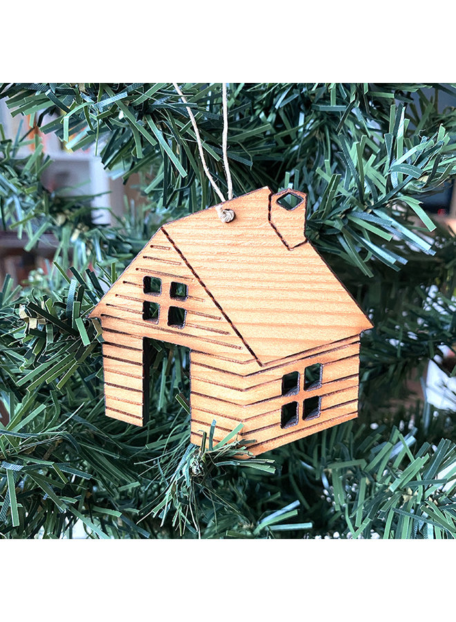 Wooden Cabin Ornament