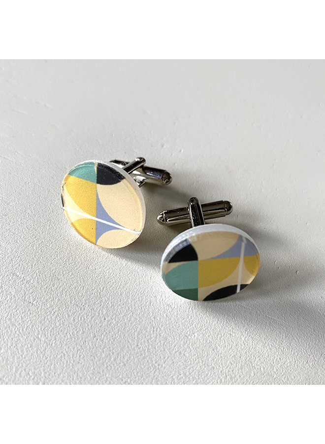 Eco resin cufflinks