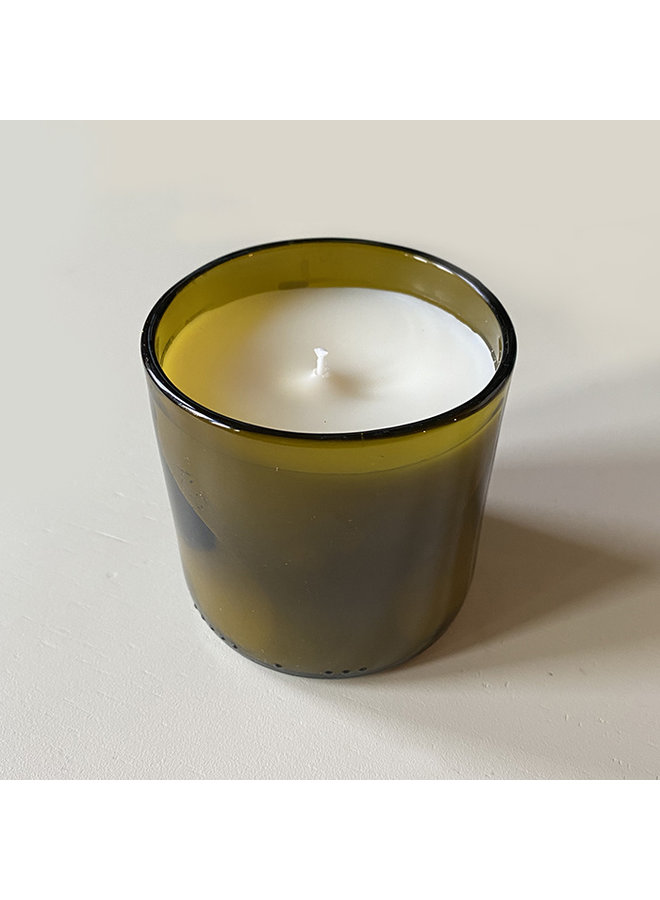Recycled Wine Bottle Fig & Sweetgrass Candle