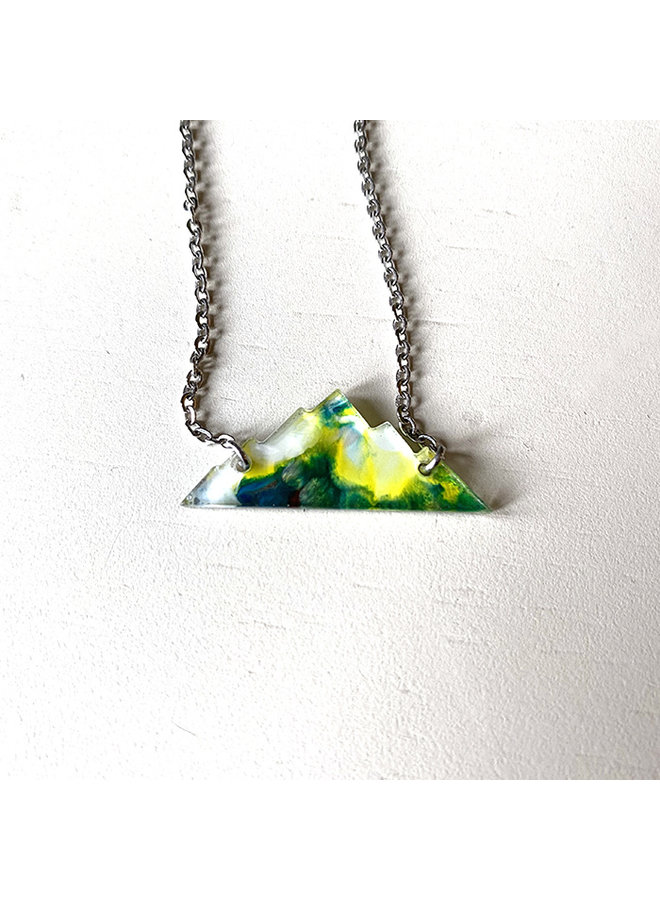 Rocky Mountains Recycled Acrylic Necklace