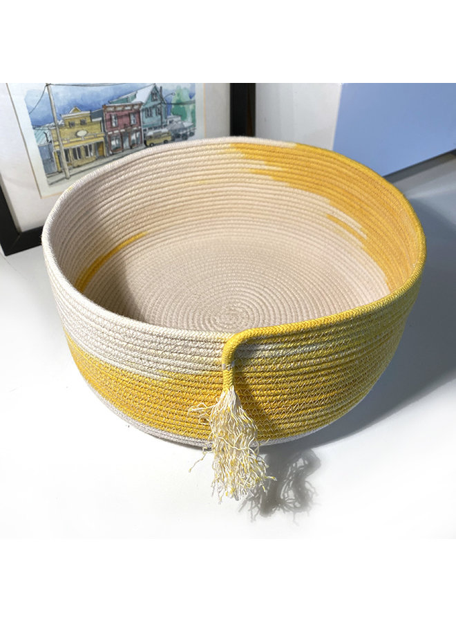 Yellow Abstract Rope Basket