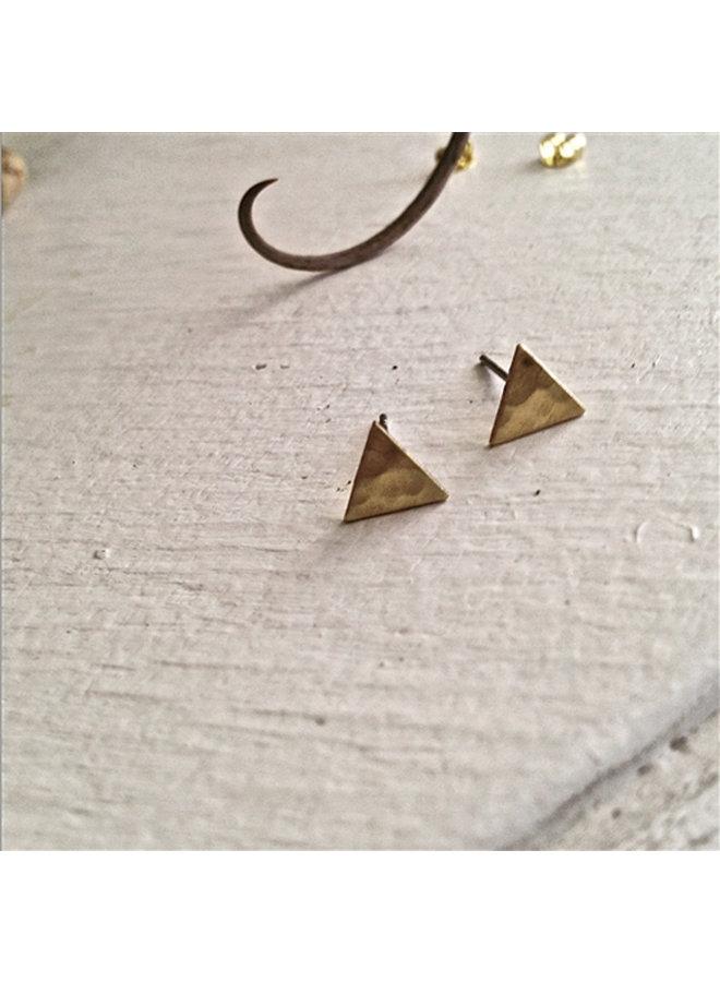 Brass Mini Triangle Stud Earrings
