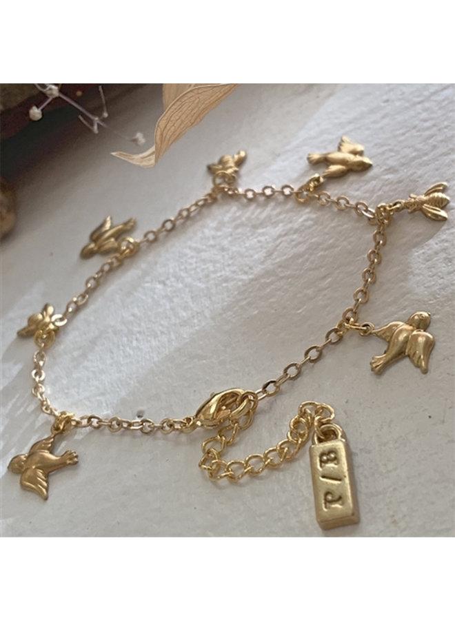 Bird & Bee Charm Bracelet