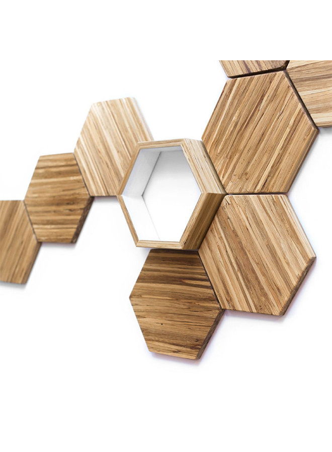 Recycled Chopstick Hex Wall Tile