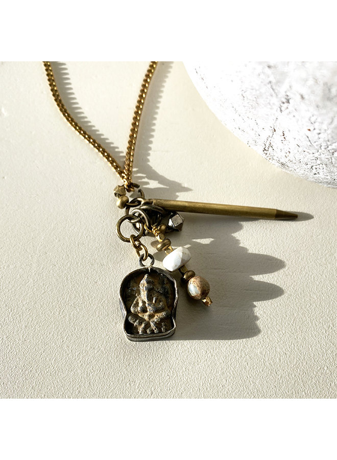 One-Of-A-Kind Brass Necklace