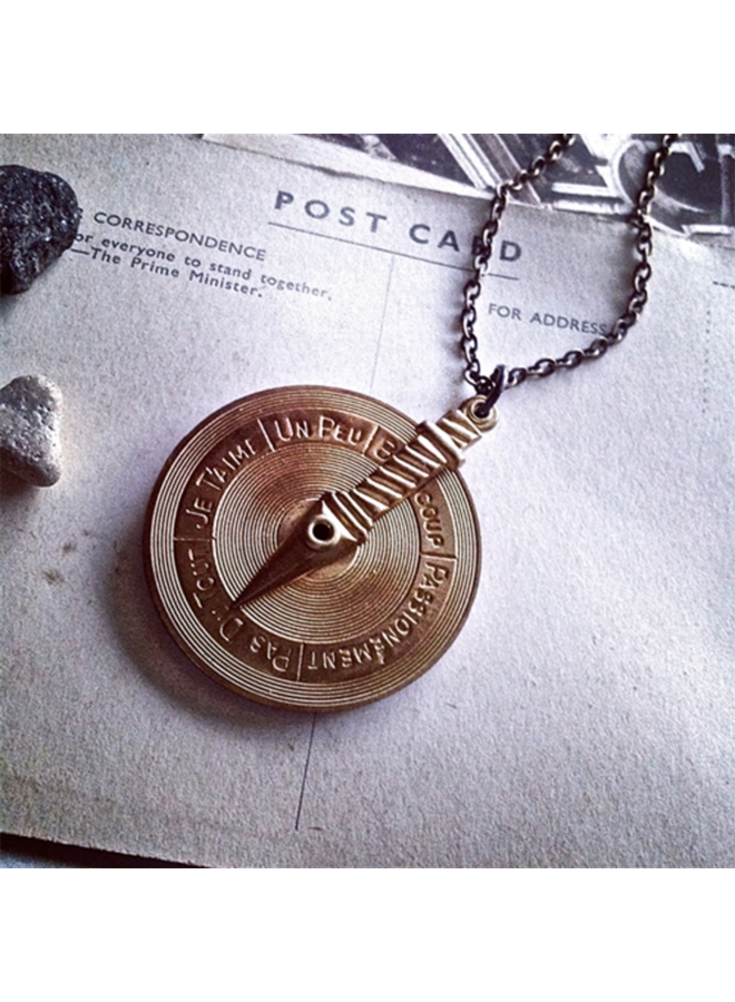 Love Games Brass Necklace