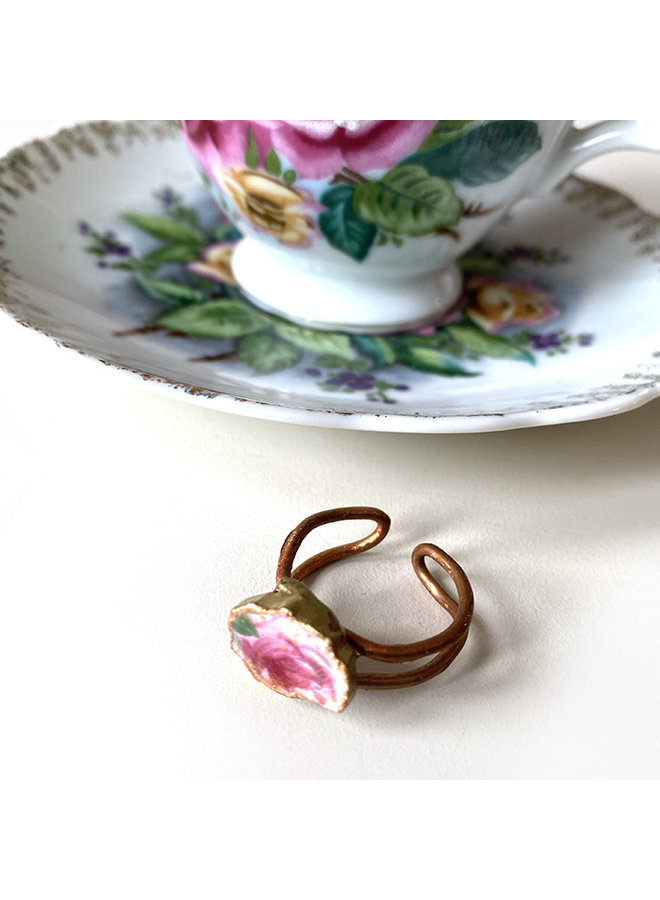 Recycled Tea Cup Ring