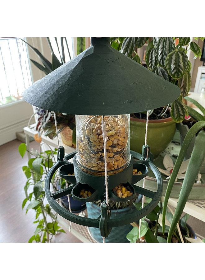 Recycled Plastic Mason Jar Bird Feeder
