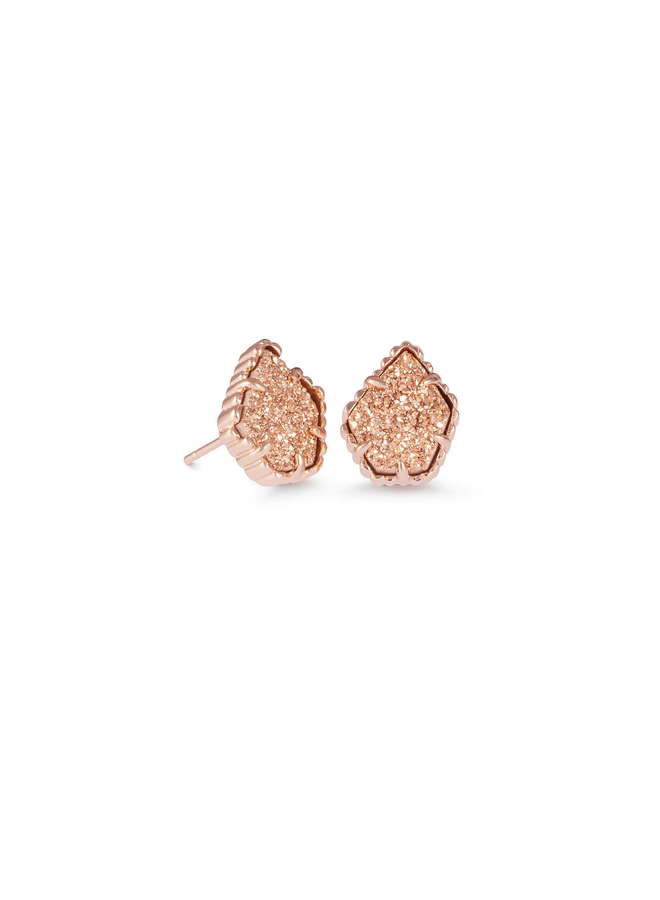 Tessa Stud Earring- Rose Gold Drusy Collection