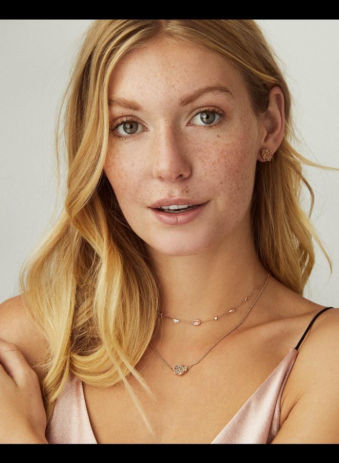 Tessa Stud Earring- Rose Gold