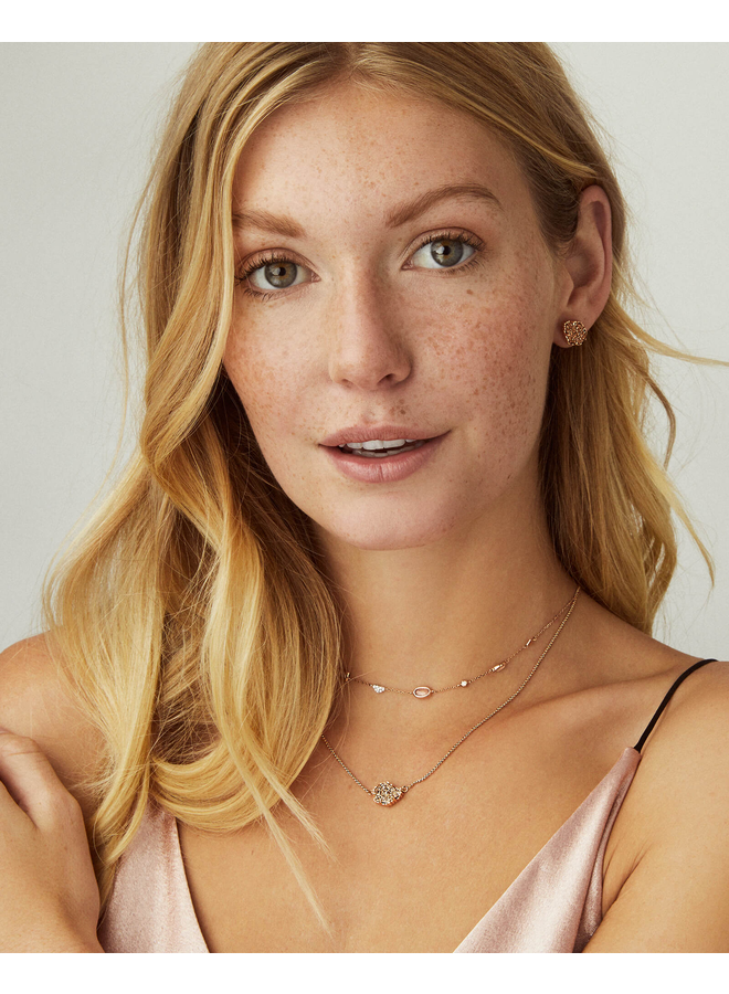 Tessa Stud Earring- Rhodium Drusy Collection