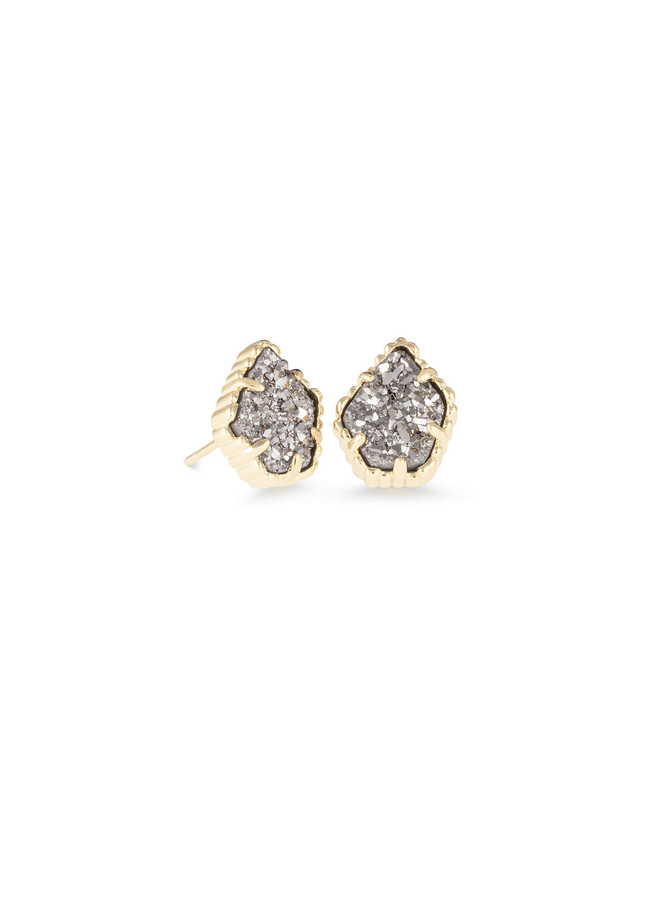 Tessa Stud Earring- Gold Drusy Collection