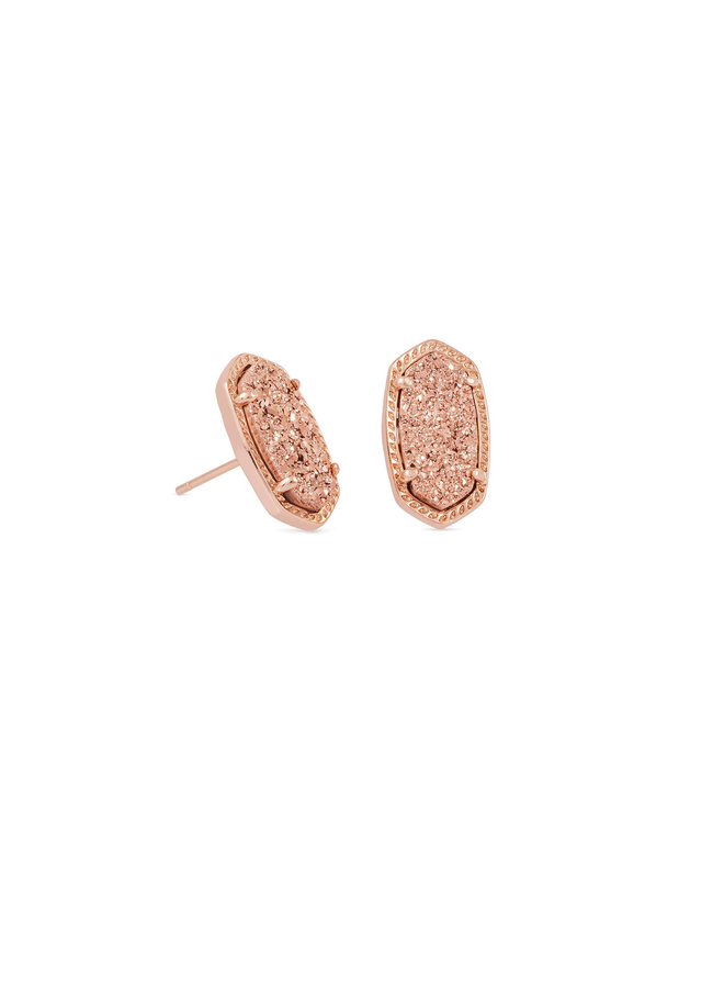 Ellie Stud Earring- Rose Gold Drusy Collection