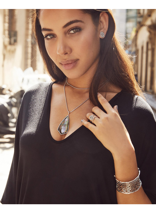 Ellie Stud Earring- Gunmetal Drusy Collection