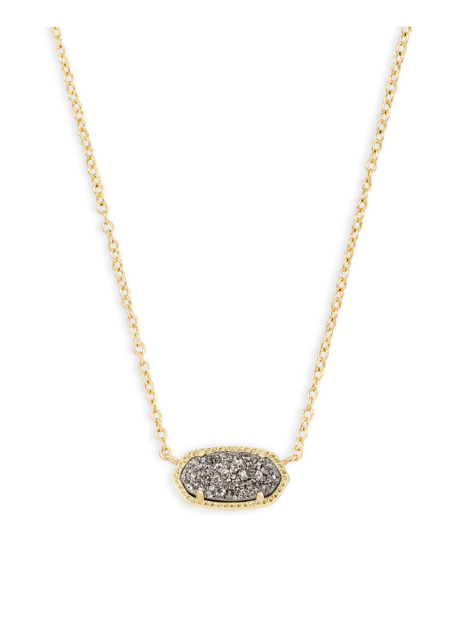 Elisa Necklace- Gold Drusy Collection