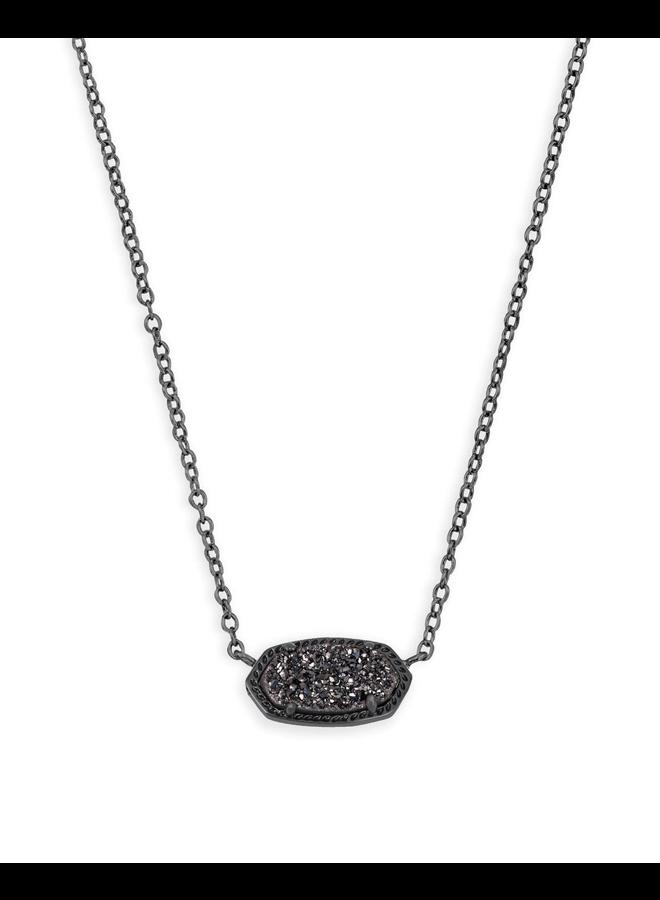 Elisa Necklace- Gunmetal Drusy Collection
