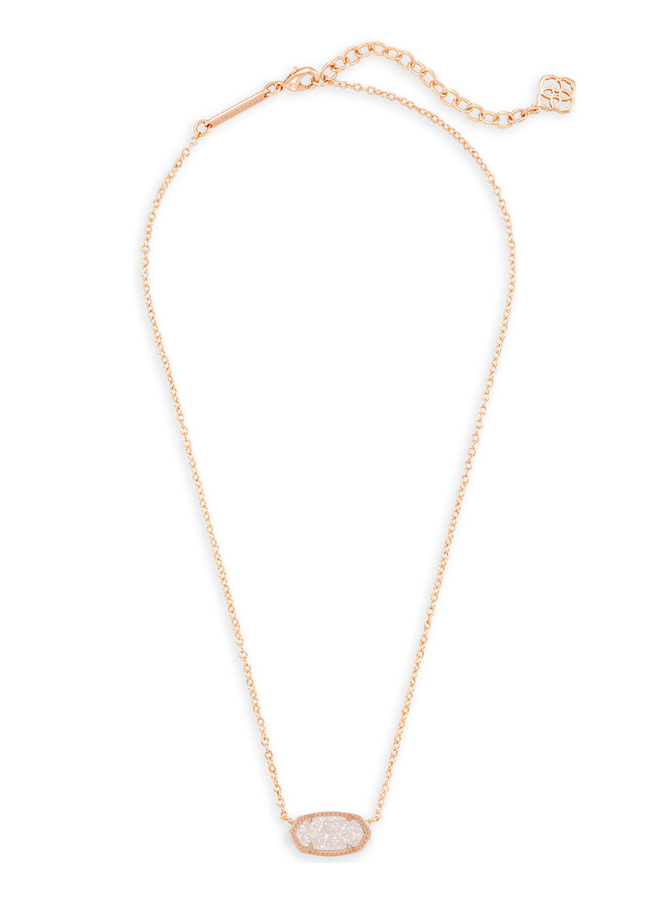 Elisa Necklace- Rose Gold Drusy Collection