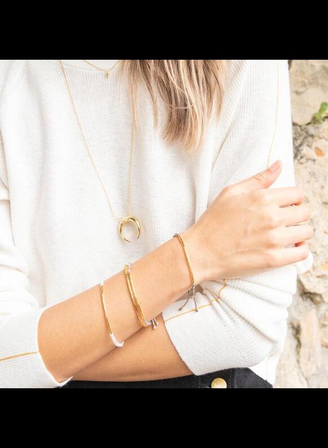 Gemstone Crystal Quartz Bracelet