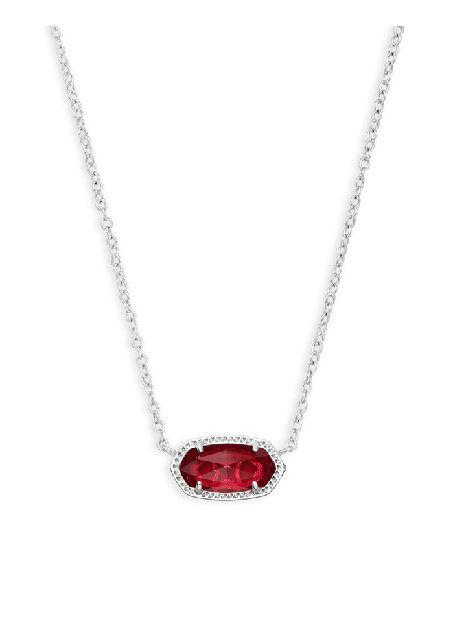 Elisa Necklace- Rhodium Birthstone Collection