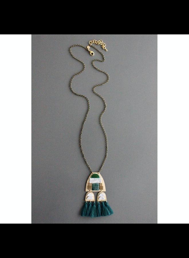 Oxidize Brass Chain Necklace