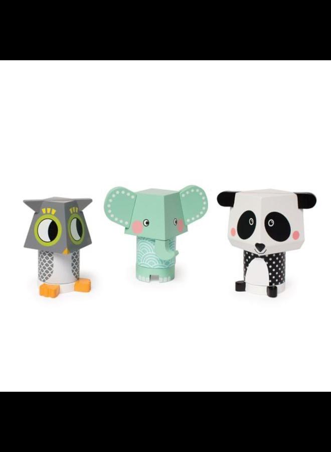 Mix Match Stack (Panda,Owl,Ele)