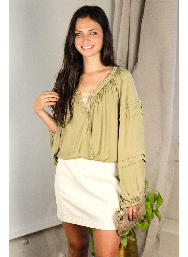 Modern Femme White Vegan Skirt