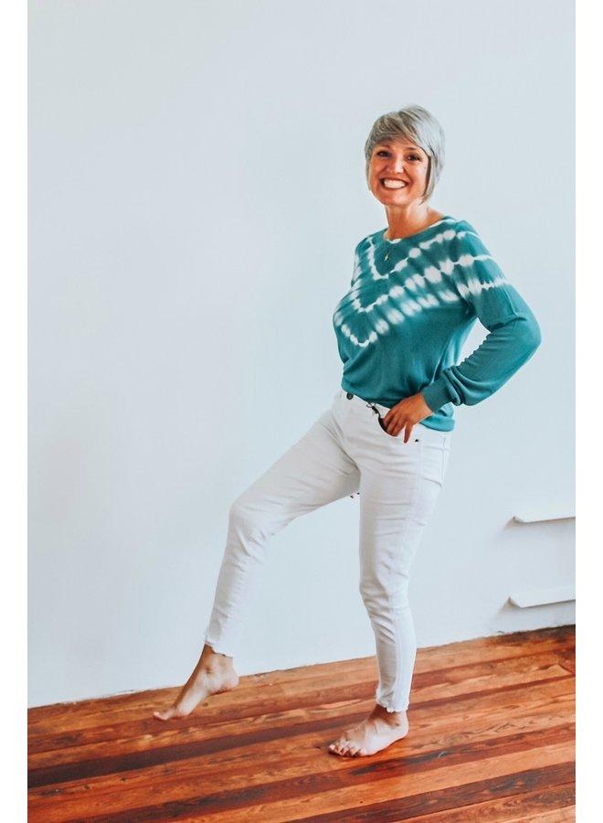 Tie Dye Blue Light Weight Sweater