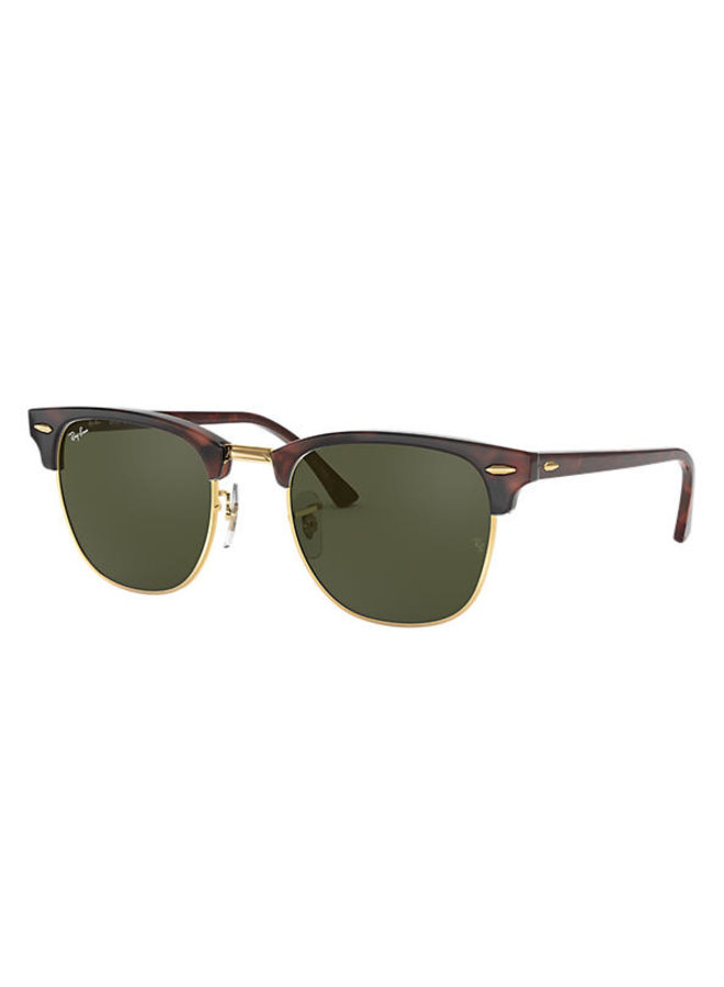 Clubmaster Tortoise with Green Lens
