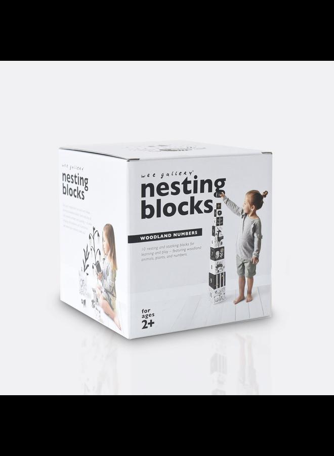 Woodland Numbers Nesting Blocks