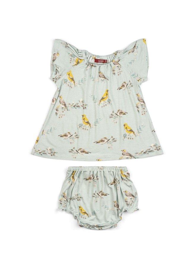 Blue Bird Dress Set