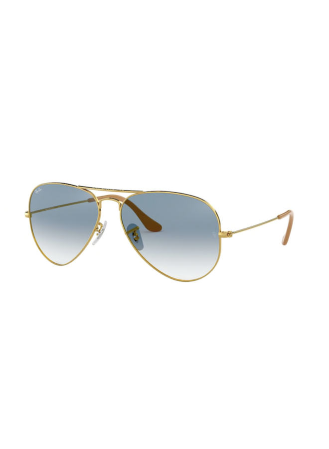 Aviator Gold with Crystal Gradient Lens