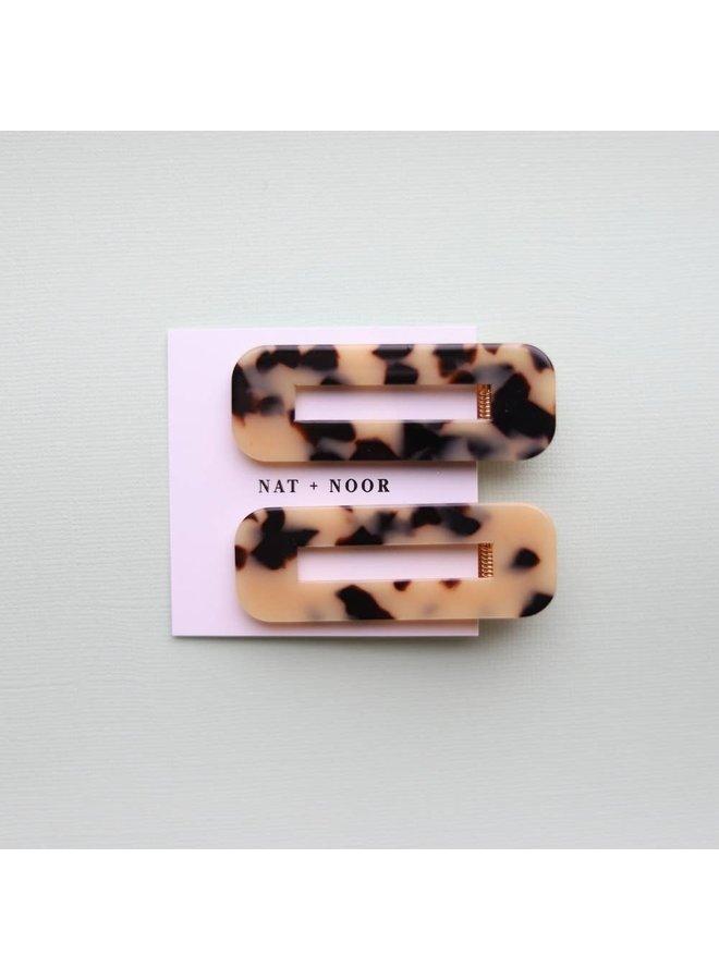 Ivory Tortoise Hair Clip Set