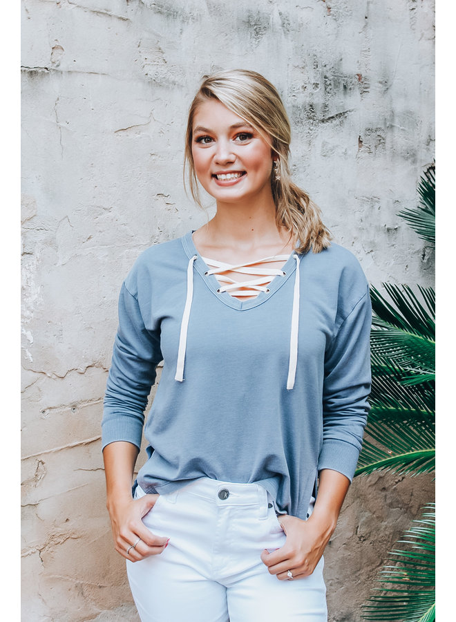 Lacie Terry Long Sleeve Vintage Blue