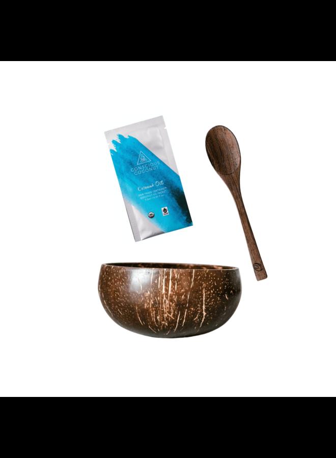Coconut Bowl & Spoon Set