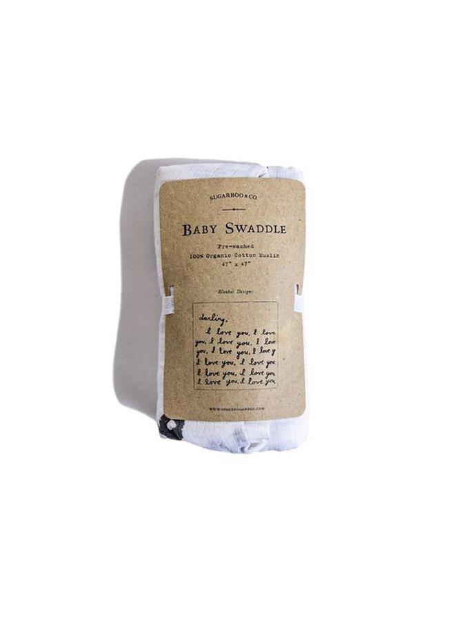 Letter For You Swaddle Blanket