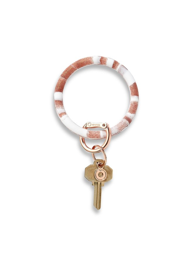 Silicone O-Venture Key Ring- Marbles