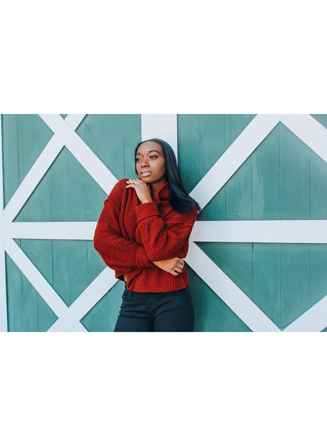 Sweet Cranberry Be Yours Pullover