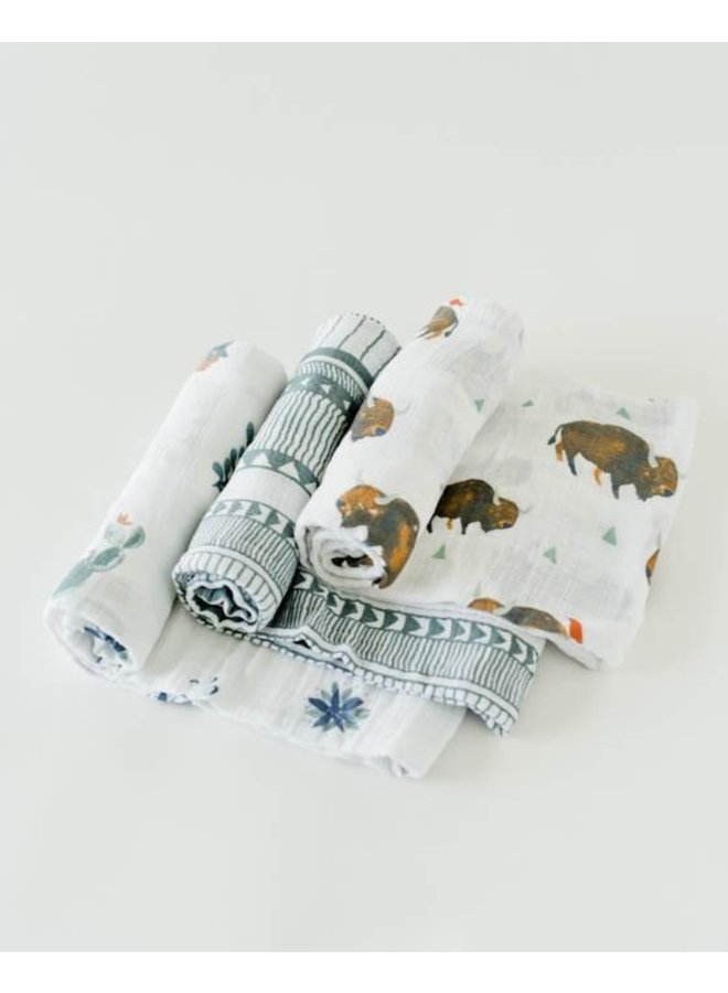 Cotton Muslin 3pack Swaddle Set