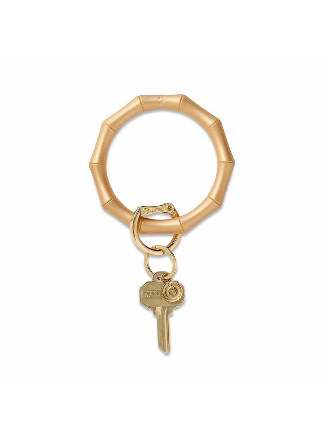 Silicone Big O Key Ring Bamboo