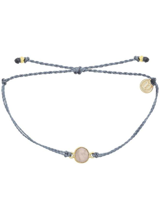 Gold Rose Quartz Bracelet