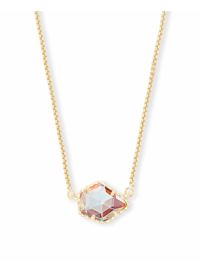 Tess Necklace Gold Dichroic